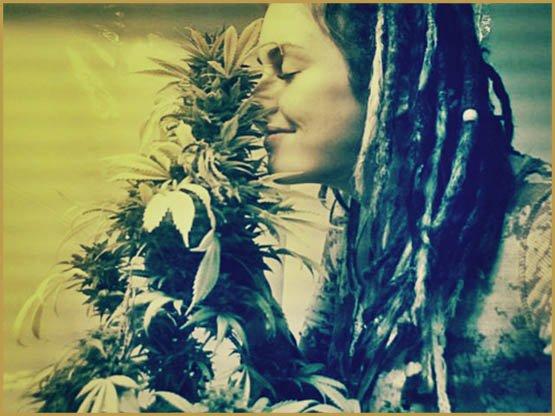 girl-enjoying-smell-of-weed