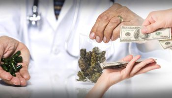 An insurance company covers the weed of a patient