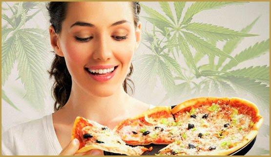 pizza au cannabis