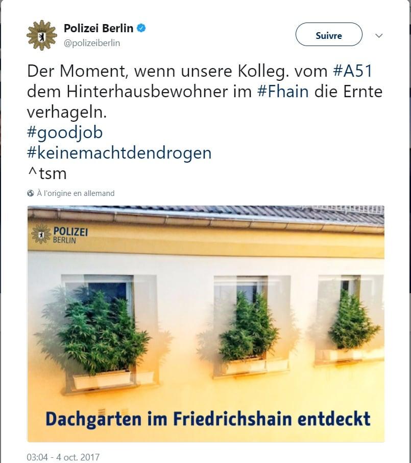 twitter police allemande