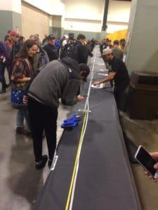 . Le groupe de plaidoyer a décidé de dévoiler le joint lors d'une exposition de vendeurs de marijuana pro. photo par Chris Christo